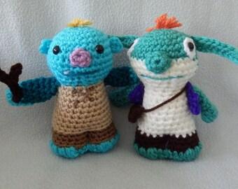 Made to order, Hand crocheted Wally Trollman and Bob Goblin like from Wallykazam monster Amigurumi Doll