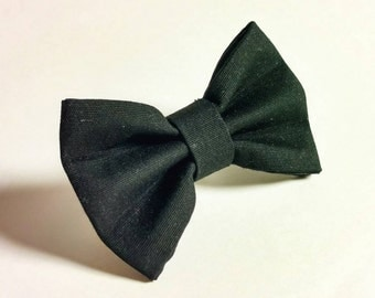 Ready To Ship Cat or Dog Bow Tie - Simply Black