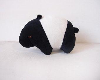 Cute Malayan tapir soft toy