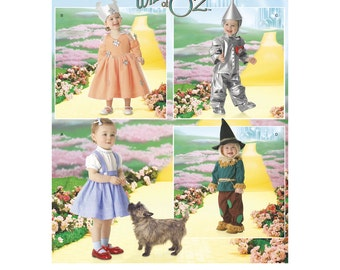Simplicity Pattern~ Wizard of Oz Costumes ~ Simplicity Pattern 4024 Toddler Wizard of Oz Costumes ~ Uncut Factory Folded