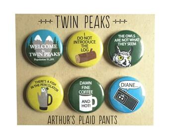 Twin peaks, twin peaks magnets, twin peaks magnet set