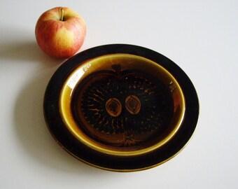 Vintage Arabia Plate, Arabia Finland, Fructus, GOG VG, Gunvor Olin Gronqvist, Salad Plate, Apple, 8 inch, Mid Century