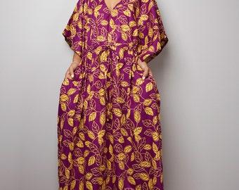 Maxi Dress / Purple Kaftan / Boho Maxi Dress : Bohemian Kaftan Collection No.1