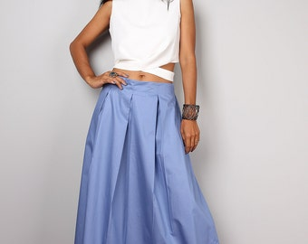 Blue skirt - Long skirt - Floor length soft blue maxi skirt : Feel Good Collection No.3