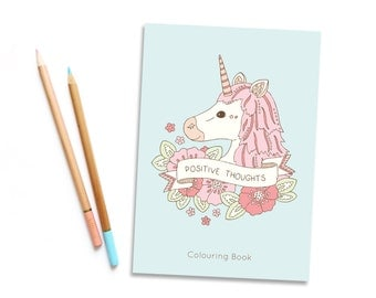 SALE Positive Thoughts Colouring Book vol. 2