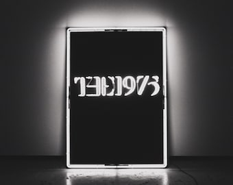 The 1975 Album Cover on Wood.