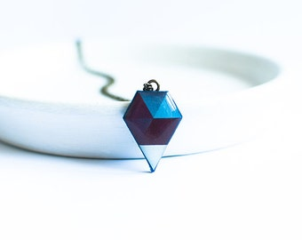 Hegaxon necklace geometric pendant contemporary jewelry