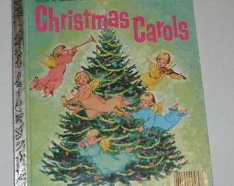 A Little Golden Book Christmas Carol Illustrated by Corinne Malvern  Vintage 1980s edition