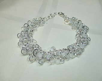 White And Silver Cha Cha Bracelet