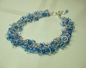 Bright Blue With Silver Cha Cha Bracelet