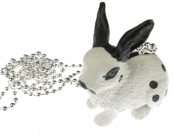 [BUNDLE] [KETTE001DEZ14ME] Rabbit chain necklace of Miniblings 80 cm rabbit Hare Bunny points sw