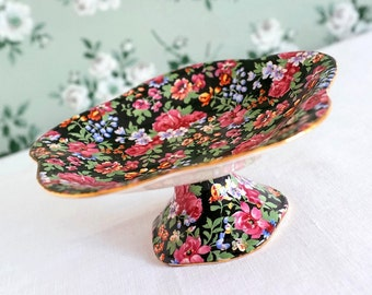 Vintage Compote Dish in Chintz China