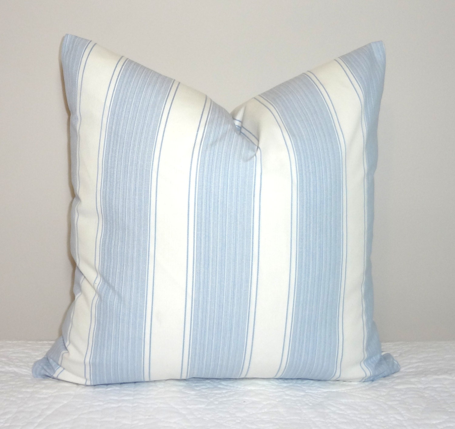 Blue Striped Throw Pillow Cover : Decorative Blue/White Stripe Pillow Cover Blue & White Striped