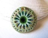 Small Green Sea Anemone Pendant