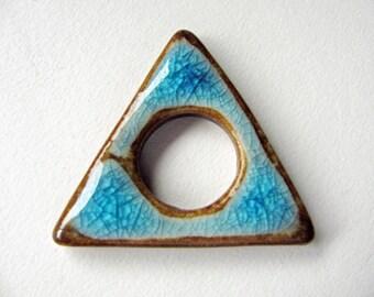 Triangle Symbol Pendant Stoneware Clay
