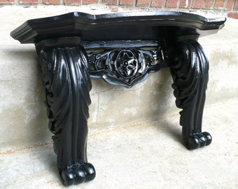 Large Black ORNATE Goth Victorian Hollywood Glam Wall SHELF