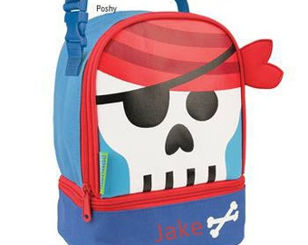 Personalized Boys Lunch Box Bag Stephen Joseph Lunch Pals in Pirate
