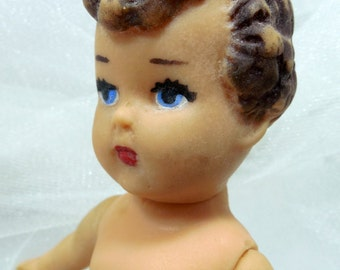 1950s Rubber Baby Doll By Enterprise, Precious, Rubber, Baby Doll, Vintage Dolls, Vtg Toys, Mid Century Dolls, Blue Eyed Rubber Baby Boomer