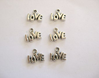 Love Charms lead free pewter~Love Charms~Love~Pewter Love Charms~Love~Love Charms