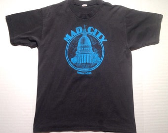 1980's Mad City Wisconsin t-shirt, fits like a large
