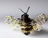 Bee brooch Honey bee Insect brooch Bee jewelry Art brooch Unusual Jewelry Sculptural jewelry Wire jewelry Unique brooch Insect jewelry.