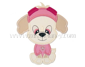 Pilot Dog Applique Design