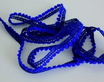 Mini Pom Pom Fringe - Royal Blue