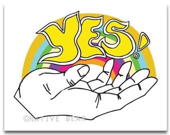 Yes! Rainbow Print