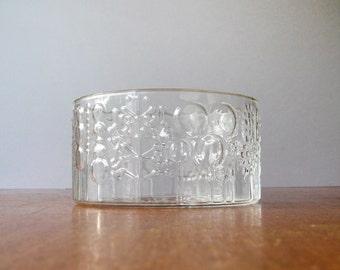 """Vintage iittala Glass """"Flora"""" Serving Bowl - Oiva Toikka"""