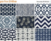 SALE Decorative Valances- PREMIER Navy Blue Valance- 50x16 inches- You Choose Fabric- Modern Window Covering- Bathroom Valance- Nautical Dra