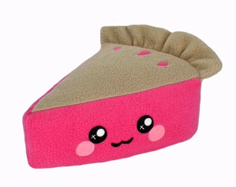 Pie plushie / novelty kawaii plush toy pillow cushion food cake cherry pie