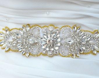 SALE - Wedding Belt, Bridal Sash Belt, Bridesmaids Sash Belt, Pearl Crystal Wedding Sash Belt , crystal & pearl