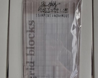 Tim Holtz, Stampers Anonymous Grid-Blocks for stamping,