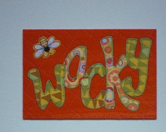 "Be ""Bee"" Affirmation Kind Happy Postcard Birthday Him Her Friend Mom Child ThankYou Housewarming Frame Gift Hi Room Decor 4x6 fabric quilted"