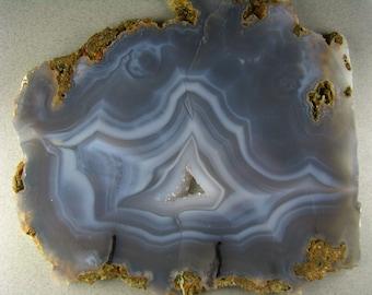Blues n Grays Large Luna Blue Agate Slab RS0316