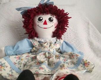 Handmade  Raggedy Ann Doll