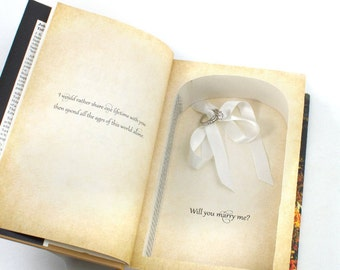 Proposal Ring Book - Lord of the Rings - Engagement Ring Hollow Book LOTR