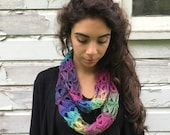 Broomstick Lace Infinity Scarf - Hand Crocheted