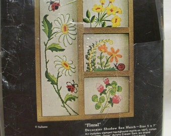 Embroidery Shadow Box Kit Vintage Sultana Creative Needlecraft Embroidery Kit Unopened