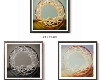 Vintage Hoop Dreams, Basketball Photography Print and Canvas Wraps