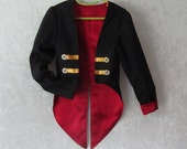 Child's Fully Lined Tuxedo Jacket: Top Coat For Cosplay, Pirate, Ringmaster, Graduation, Or Wedding - Sizes 8 to 14, Ready To Ship Now