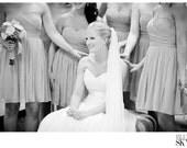 Off White Silk Chiffon Wedding Veil