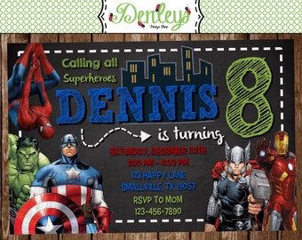 Superhero Birthday Invitation (SH02)