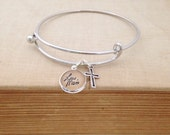 Custom Handwriting Personalized Bangle Bracelet.  Hendersweet Handwriting Jewelry