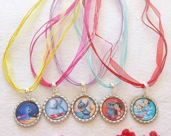 10 Lilo and Stitch  Necklaces Party Favors.
