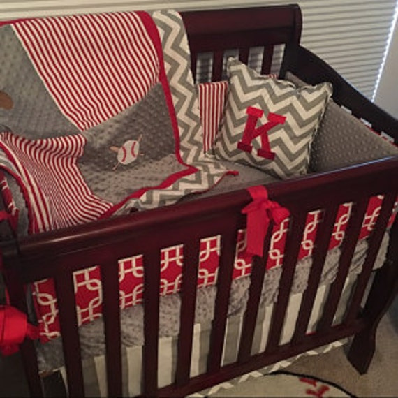 Boys 6pc Mini Crib Bedding Set by BabiesNBaubles