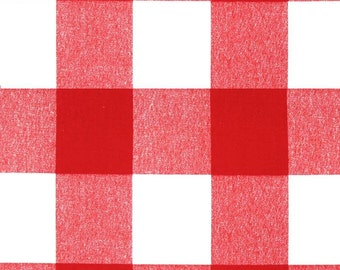 Red Buffalo Check Curtains. Pair of 2 Plaid Drapery Panels. Gingham. Bedroom Window Treatments.