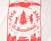 Flour Sack Dish Towel - Oh Tannenbaum! Red or Winter Green