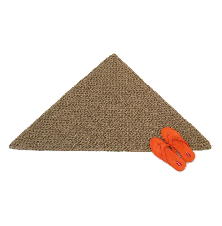 Triangular Jute Rug Thick Corner Rug Triangle Floor Mat