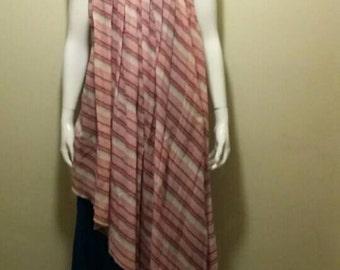 Ladies 1970's Layered Long Dress Size UK 14.